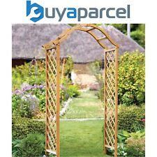More details for smart garden elegant woodland wooden garden arch pergola tan plant support