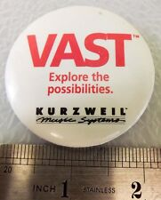 Vintage Vast Kurzwell Music Guitar Advertising sys Pin