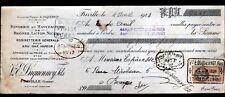 """FRIVILLE (80) FONDERIE de Laiton & Bronze / ROBINETTERIE """"Vve DUQUENNOY"""" en 1928"""