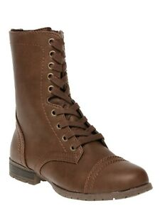 Women's Time and Tru Combat Boots Lace Up