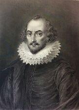 Shakespeare d'après Gustave Staal (1817-1882) gravé par Delannoy vers 1877