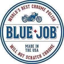 Trabajo Azul Cromo Y Acero Inoxidable Motocicleta polaco elimina Blues de escape 28g