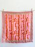 Vintage Silk Scarf Vera Neumann Geometric Squares Diamonds Pink Orange