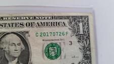 USD Dollar Bill Fancy Serial Number   BIRTHDAY NOTE 2017/07/26