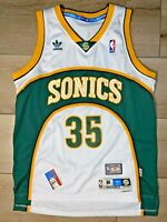 Kevin Durant Seattle Supersonics Adidas HWC Swingman Size M White NBA Jersey