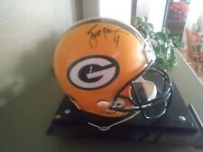 Authentic mounted memories certified autographed Brett Favre helmet ridell offic