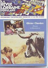 la revue populaire lorraine -numero 163 - - dcembre 2001