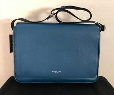 Michael Kors RUSSEL Large Leather Messenger Crossbody Bag OCEAN BLUE $448