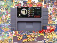 Super Bomberman (5in1) 1 2 3 4 5 Collection Multicart (SNES Nintendo) USA Seller