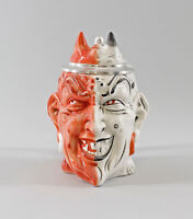 9941750 Ens/E.Bohne  Porzellan Figur Bierkrug Teufel rot/weiß H17,5cm