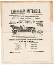 1900 ARGENTINA MITCHELL CARS AUTOS ADVERTISING COVER STATIONERY, RARE
