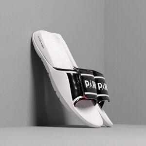 Nike Jordan Hydro 7 V2 PSG sliders UK Size 11 White/Black (CJ7244 001)