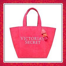 (1) Victoria's Secret 2018 Pink TERRY CLOTH Weekender Tote Bag NEW