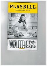 WAITRESS---JESSE MUELLER (Broadway)  PLAYBILL NOVEMBER 2016.....LOW SHIPPING