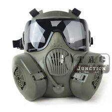 M50 Airsoft Full Face Gas Mask Double Filter Fan CS Field Dust Face Guard Gift