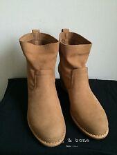 NIB $575 Rag & Bone Mercer Suede Mid Calf Boots Camel Size 7.5