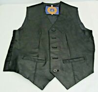 Vintage Club New Age Leather Vest Harley Davidson Owners Group Patch Small