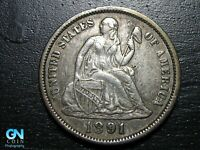 1891 P Seated Liberty Dime --  MAKE US AN OFFER!  #B5336