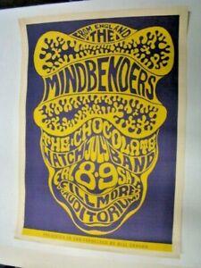 1966 Mindbenders Chocolate Watch Band Poster Bill Graham Fillmore San Francisco