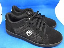 Mens Branded Fila Black Suede Trainers Size Uk 7  VGC