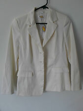 NWT Women's Talbots Petites Pearl Colored Blazer Jacket Size 4 (Stretch)