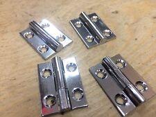 2 paires 2.5cm 25mm lustré chrome sur laiton charnières Petite boîte porte