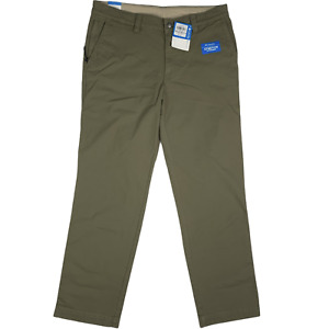 Columbia Men Hiking Pants Flex ROC Khaki Stretch Regular Fit Cotton 36x32