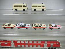af272-0, 5 #6x herpa H0 Ambulancia / Emergencias: VW LT , COCHE PORSCHE 924 Audi