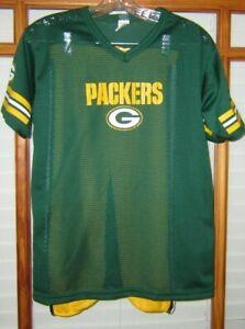 Franklin Green Bay Packers Shirt & Pants Kids Large Uniform Costume