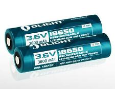 Olight 3600mAh 18650 High Capacity Protected Rechargeable Battery ORB-186P36 x2