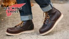 """Red Wing 8138 Men's 6"""" Classic Moc Boot (Briar Oil Slick Lthr, Traction Tred)"""