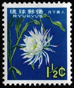 Ryukyu Islands - 1963 - 1 1/2 Cents Gooseneck Cactus Definitive Issue # 107 Mint