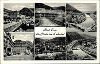 BAD EMS Lahn 6 Ansichten alte Mehrbildkarte AK Ansichtskarte Postkarte 1960
