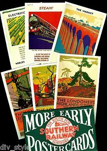 More Early Southern Railway Posters on a set of 6 Dalkeith postcards London