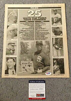 HARRY CARAY Signed Chicago CUBS USA  Baseball Weekly Newspaper HOLY COW PSA/DNA