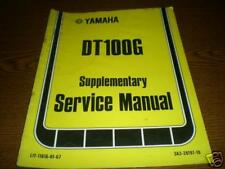 1980 Yamaha DT100 G Supp. Service Repair Shop Manual