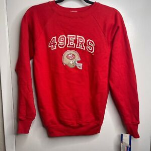 Vintage NWT San Francisco 49er Football Sweater Champion Made In USA Kids Large