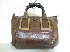 Authentic Chloe Dark Brown Ethel Leather Handbag w/ Shoulder Strap