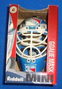 Riddell Mini Goalie Mask Helmet New York Rangers