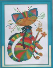 Counted Cross Stitch Kit, Colourful Cat