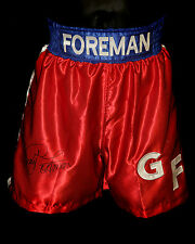 *New* George Foreman Hand Signed Replica Boxing Trunks : A