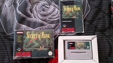 SECRET OF MANA  - SNES GAME - Box and Instructions - PAL VERSION