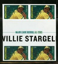 Willie Stargell Imperf Gutter Block of 4 Mint Self-adhesive