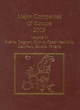 Major Companies of Europe: Austria, Belgium, Cyprus, Czech Republic, Denmark, E