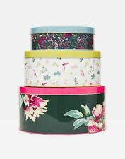 Joules  Set Of 3 Cake Tins - Green Florals - One Size