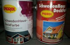 10?/L Pigrol SchwedenHaus Deckfarbe Holzfarbe außen 2,5L Farbwahl (m)