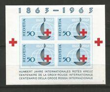 Suisse 1963 Croix-Rouge un feuillet non dentelé neuf sans charnière MNH / T6556