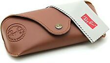 Ray Ban Brown Soft Leather Case Sunglasses Case Snap Travel Eyeglasses Case