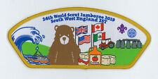 2019 World Scout Jamboree UK SOUTH WEST ENGLAND IST SCOUTS Contingent Patch