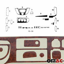 Wooden Look Dashboard Console Trim Kit 30 Pcs for Ford Transit 2015-2020